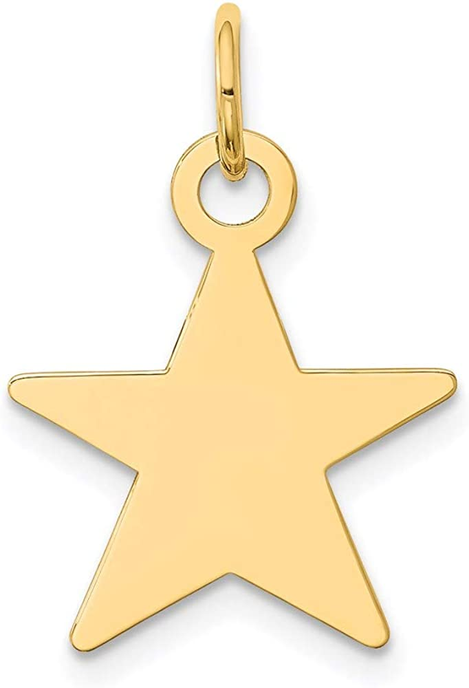 Charm Pendant 2021 spring and summer new 14K Yellow Gold 15 2021 Star mm 22 Disc