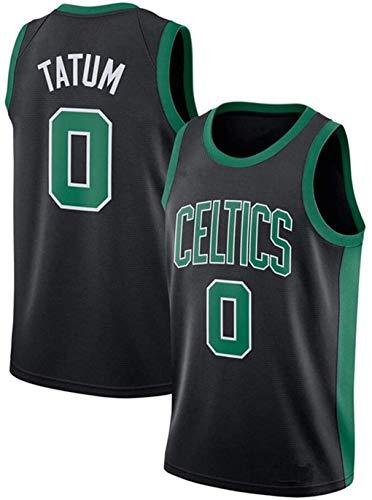 Basketball Jersey Celtics #0 Tatum Camiseta de Jugador de Baloncesto para Hombres, Camiseta con Bordado, Camiseta de los fanáticos, Chaleco Transpirable Deportivas de Jersey Swingman (Negro, XL)