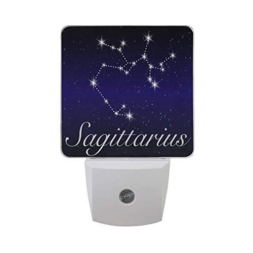 Schütze Sternzeichen Sternbild Astrologie Bogenschütze Zeichen Horoskop Blau Sternenhimmel Nachthimmel Galaxie Sterne Weltraum Auto Sensor Nachtlicht