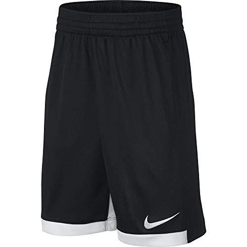 Nike 8' Dry Short Trophy, Dri-FIT Boys' training shorts, Athletic shorts, Black/White/White, L