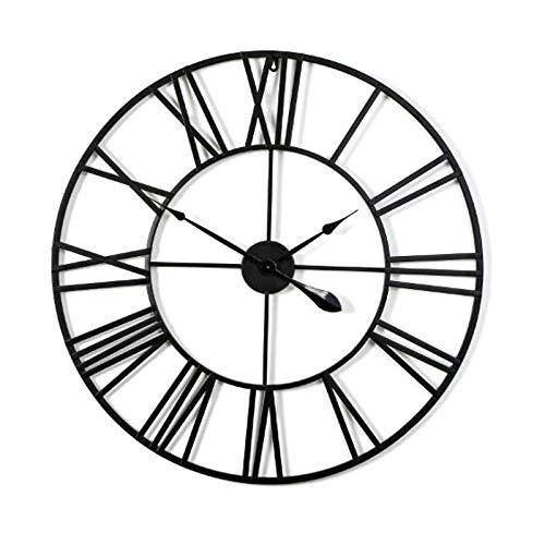 Everyday home Nordic créatif suspendus bijoux salon moderne art minimaliste horloge maison décoration muette (Couleur : NOIR, taille : 60 cm)