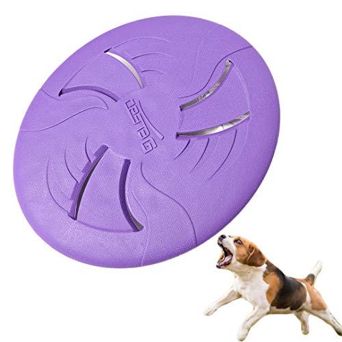 Juguete de disco volador para perro, FayTun Dog Frisbee Juguetes de material TEP Juguete para masticar mascotas, platillo volador de silicona para uso al aire libre interactivo