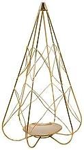WLJBD Castiçais de vela para mesa de metal nórdico, castiçal em forma de pirâmide para decoração de mesa, bar, restaurant...