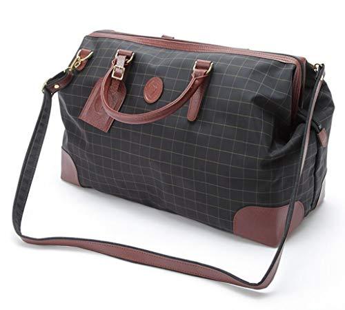 日本製 最強の収納力!ボストンバッグ 鍵 付き [和製 鞄] ダレス型 大開き ゴルフ 鞄 2泊 45cm幅 860g メンズ 機能性 バッグ