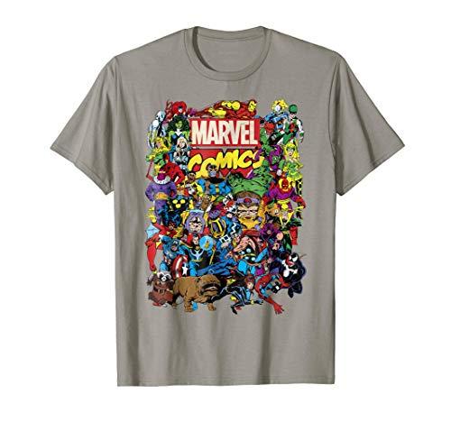 Marvel Comics Heroes Group Shot Graphic T-Shirt T-Shirt