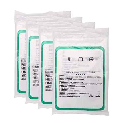 Suministros de ostomía, bolsa de colostomía desechable Bolsa de colostomía de limpieza amigable con la piel Bolsa para cuidado del estoma, 100 piezas