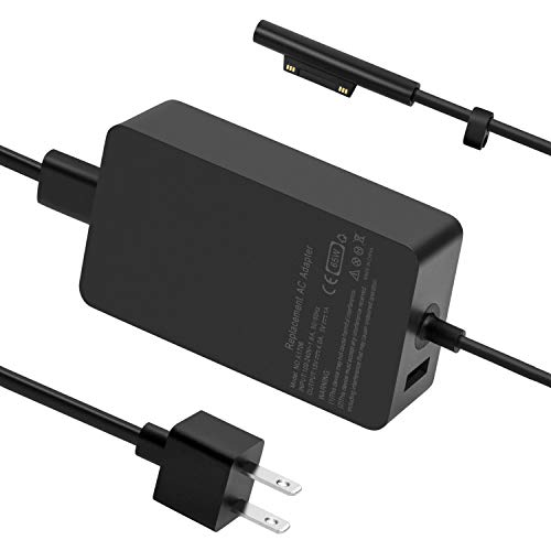 Surface Pro 6 Pro 7 Charger, 65W Power Supply Adapter for Microsoft Surface Pro 3/4/5/6/7/X, Surface Book, Surface Laptop 1/2/3, Surface Laptop Go, Surface Go, with 6.2ft Power Cord