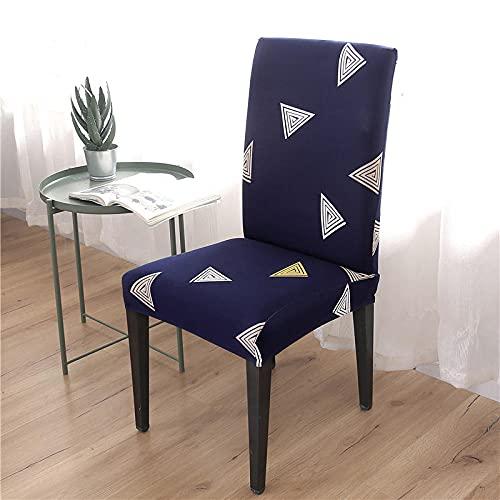 JRLTYU Fundas de sillas Geometría Rosa Amarillo Blanco Azul Fundas de Sillas Comedor Elásticas Spandex para Boda,Hogar,Restaurante,Hotel Fundas Protectoras para Sillas Juego de 8 Piezas