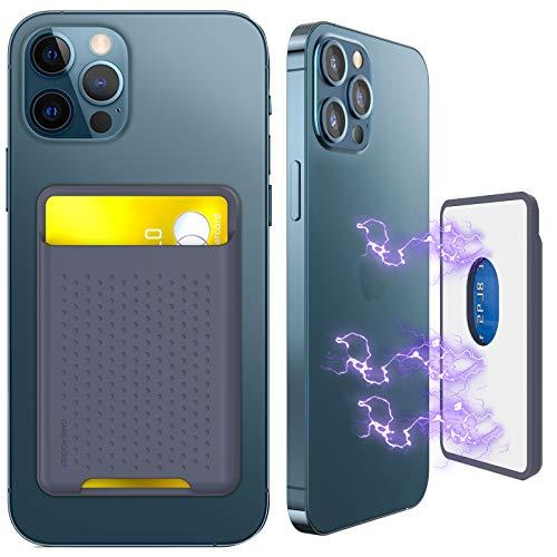 Funda para tarjetas magnéticas, de silicona con funda magnética, compatible con iPhone 12 12 12 Mini 12 Pro 12 Pro 12 Max Ranuras para tarjetas magnéticas Mag – Safe