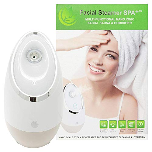Facial Steamer SPA+ by Microderm GLO - Best Professional Nano Ionic Warm Mist, Home Face Sauna,...