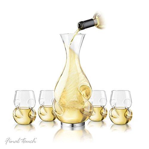 Final touch Conundrum White Wine Drinking set Conundrum decanter 750ml e bianco Conundrum bicchieri da vino 266ml–esclusiva confezione regalo set