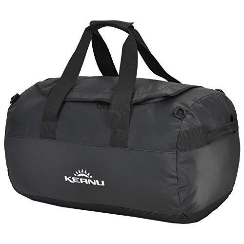 KEANU Wasserfeste Damen Herren LKW Plane Dry Duffle Bag Sporttasche Rucksack Seesack Reisetasche :: Volumen ca. 50 Liter mit Rucksackfunktion :: Handgepäck Fitness Yoga Schwimmen Sauna Tasche