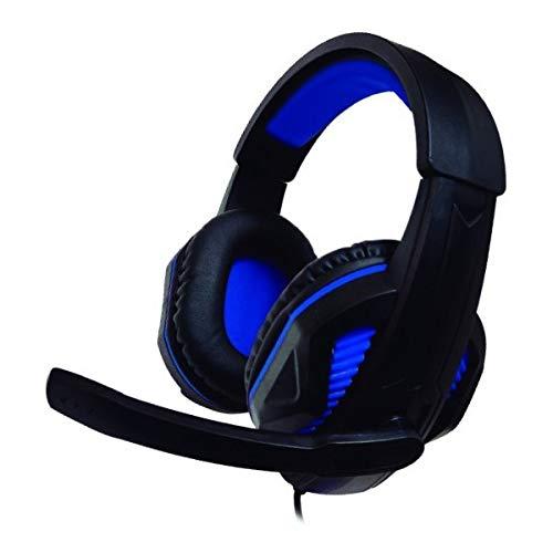 Eurroweb Kopfhörer mit Mikrofon für Gaming, kompatibel mit Ps4 / Xbox Nuwa ST10, Schwarz / Blau