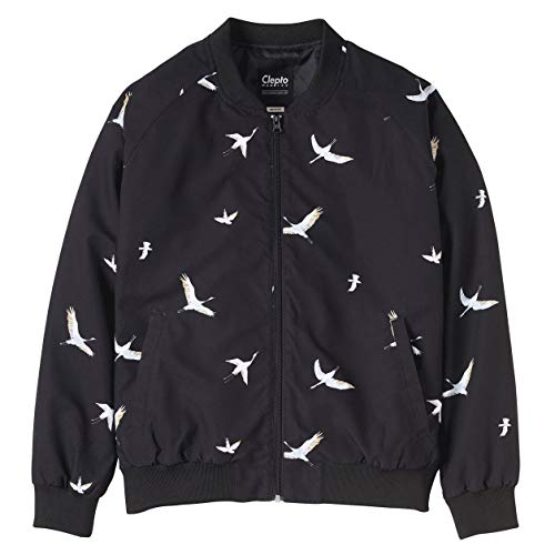 Cleptomanicx Damen Jacke Bird Bomber Black M