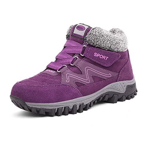 JACKES Hombres Mujeres Moda Unisex Formadores Calzado Deportivo Zapatillas De Deporte con Amortiguador De Aire Caminar Correr Aptitud Ligera Sport Running Trainer Purple-39