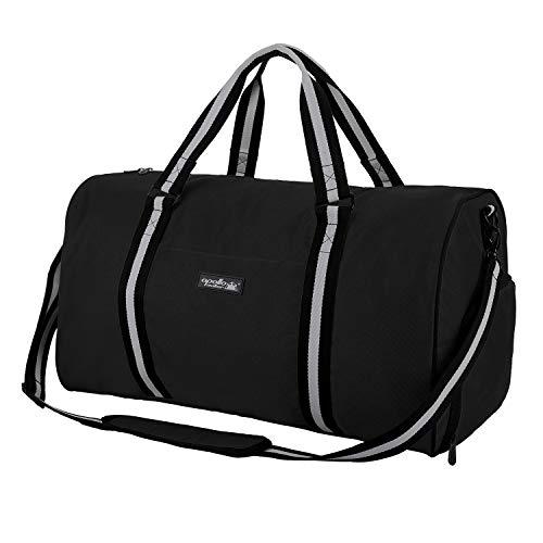 Apollo Walker Wasserabweisende Sporttasche mit Schuhfach, Reisetasche für Damen und Herren Einheitsgröße Schwarz