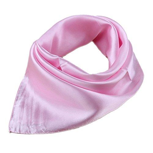 roichic roichic Damen OL Bandana Head Wrap Haar Schals Taschentuch Schal Scarf (Hell Pink)