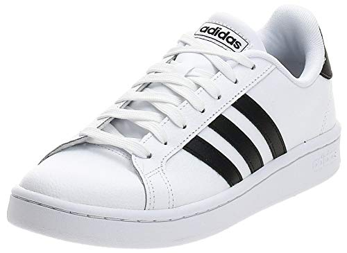 adidas Mens Grand Court Sneaker, Cloud White/Core Black/Cloud White, 43 1/3 EU