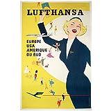 zkpzk Retro Vintage Lufthansa Europa Usa Südamerika