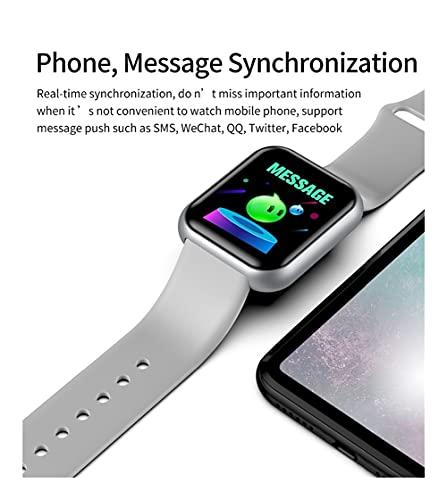 Xhwyf Reloj Digital, presión Arterial y Monitor de frecuencia cardíaca, Pulsera Inteligente para Hombres y Mujeres, Adecuado para el rastreador de Ejercicios Deportivos Impermeables (Color : 2)