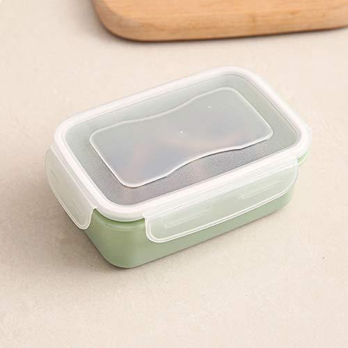 zhongqingshiKelly Poe 1pc PP Silikon Lebensmittel Aufbewahrungsbox Runde Mini Kühlschrank Crisper Aufbewahrungsbox Kids Seal Box Lunch Grains Tank Sortierung Container-in Lunch Boxen(Green 2)