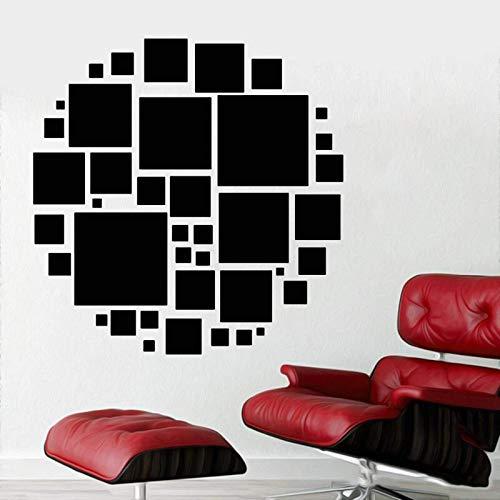 AGiuoo Etiqueta engomada Cuadrada Redonda de la Etiqueta engomada de la Etiqueta engomada geométrica del hogar y decoración de HotelArt 77x77cm