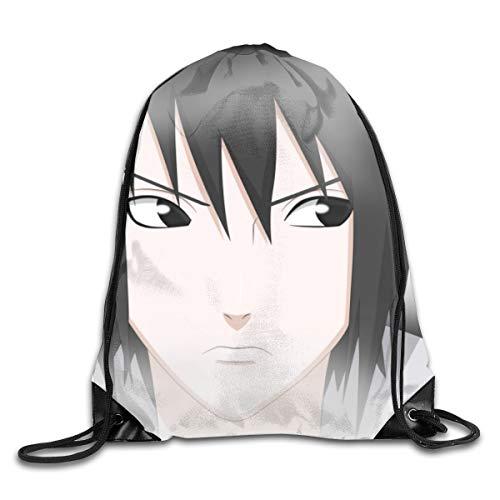 Naruto Uchiha Sasuke - Mochila de algodón puro para hombre y mujer, con cordón, para baloncesto, tenis, Gympack