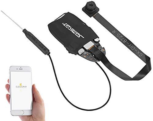 Somikon Mini WLAN Kamera: Full-HD-Micro-Einbaukamera mit Bewegungserkennung, WLAN & App (Mikrokamera)