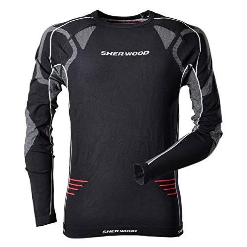 Sherwood Erwachsene SHER-Wood Comfort Compression Unterwäsche - Top Trainingsunterwäsche, schwarz-Rot, Senior