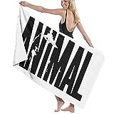 Animal Letter Print Toallas de Playa Unisex Toallas de baño Adultos Adolescentes 31x51 Pulgadas