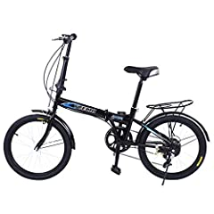 "20"" High Tensile Steel Folding Frame. Steel V Brake and Unique Folding Pedal Design. Alloy Wheels with High Grade 20"" x 1.75 Road Tires. 14t-28t 7 speed Fixed Freewheel, 44T Chainring , Alloy Handlebars. Streamline frame design suitable for students,..."