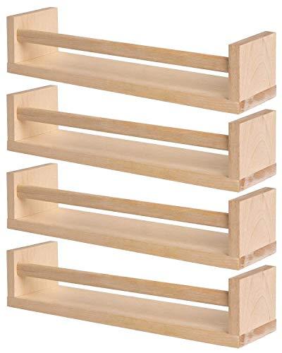 Ikea Bekväm Regalbretter-Set mit 4 Brettern, für Gewürze/Bücher/Kinderzimmer/Küche/Bad etc., Birkenholz