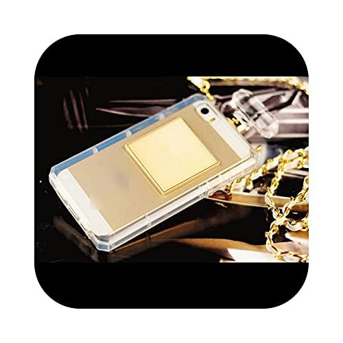 Lujo apagado 3D botella de perfume negro blanco teléfono caso para Iphone 7 8 Plus 12Mini 11 12 Pro Xs Max X Xr contraportada con cordón - blanco para 12Promax 6.7 pulgadas