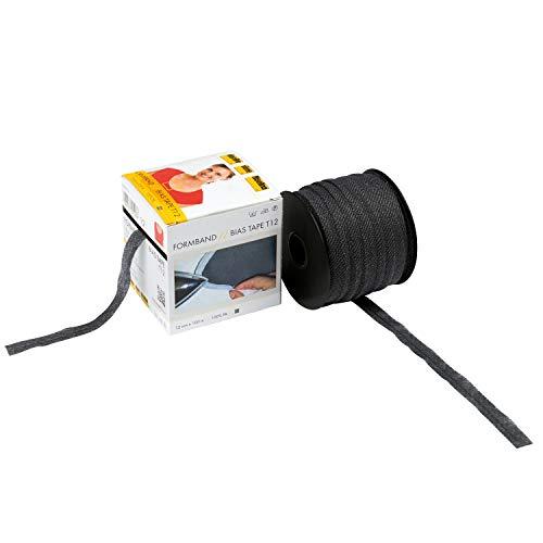 Vlieseline 53286761 Formband GP 12mm x 100m, 100% PA, Grafit, 12 mm x 5 m