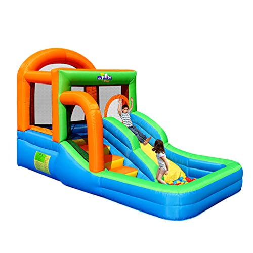 XGYUII Bouncy Castle Children's Indoor Castle Slide Inflatable Toys Water Slide Laddling Pool With Slides For Kids