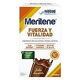 Meritene FUERZA Y VITALIDAD - Suplementa tu nutrición y mantén tu sistema inmune con vitaminas, minerales y proteínas - Batido de Chocolate - Estuche (15 sobres de 30g)