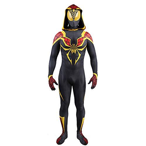 LGYCB Costume de Cosplay de Fer Spiderman avec Couvre-Chef, 2021 Nouvelle Version Rôle Play Vêtements Siamois Halloween Anniversaires Anniversaires Body Performance Body,Kids S(115~125cm)-Bodysuit