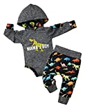 Newborn Baby Boy Clothes Baby Clothes Boy Dinosaur Hoodies + PantsInfant Outfit Winter 2Pcs Set 3-6M