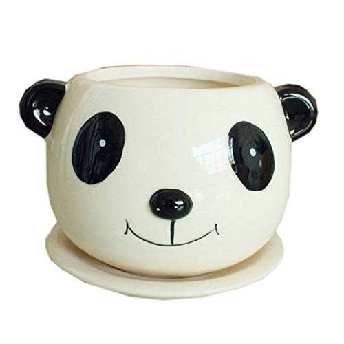 Lovely Panda Earthenware Jardinera Creative Cute Decor/Gift Flower Pot 4.3 * 3.9'