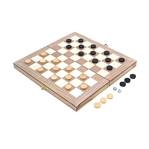 Fagu 1Set Interactivo Montessori estimulación de ajedrez de Madera ajedrez Plegable Juguete de Aprendizaje temprano Regalo para Juguete para niños pequeños
