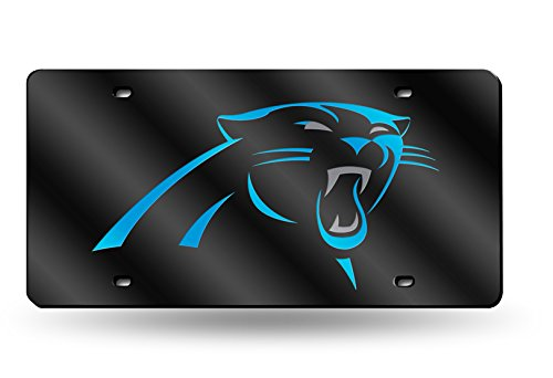 Rico NFL Carolina Panthers Laser Cut License Plate