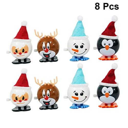 NUOBESTY 8pcs Weihnachtsuhrwerkspielzeug gehende Wind-upspielzeug Nette Partei spielt Weihnachtsgeschenkversorgungen für Kindkindkinder