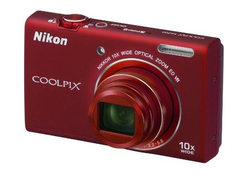 """Nikon Coolpix S6200 Fotocamera Digitale Compatta, 16 Megapixel, Zoom 10X, 3200 ISO, LCD 2,7"""", colore: rosso"""
