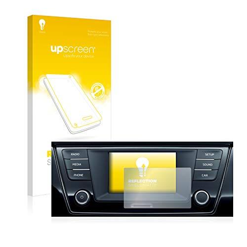 upscreen Entspiegelungs-Schutzfolie kompatibel mit Skoda Infotainment System Swing 6.5