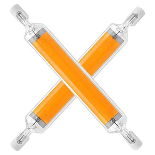MJLXY 20W R7S LED Lampe 118Mm Dimmbare R7S LED COB Licht Doppelseitiges Flutlicht Halogen Sicherheitslichtern,Für Wand Tischbeleuchtung,2 STK,Cool White