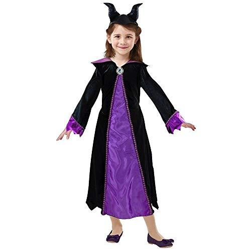 Rubies Vestido Maléfico, niña, I-300831M, Negro, Talla M