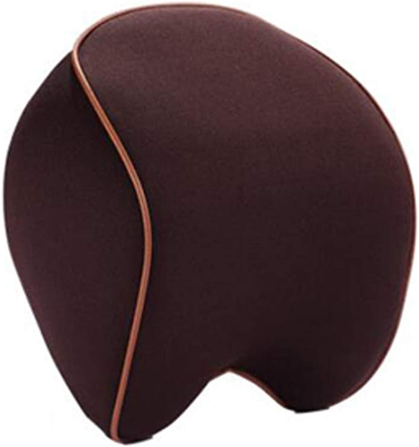Car Neck Support Pillow, Seat Pillow, Car Interior Orthopedic Breathable Neck Waist Massage, Relieve Pain Pressure, 4 colors,Brown