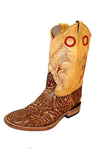 Botas Cowboy mexicanas de Piel para Hombre, Modelo Rafael, 43