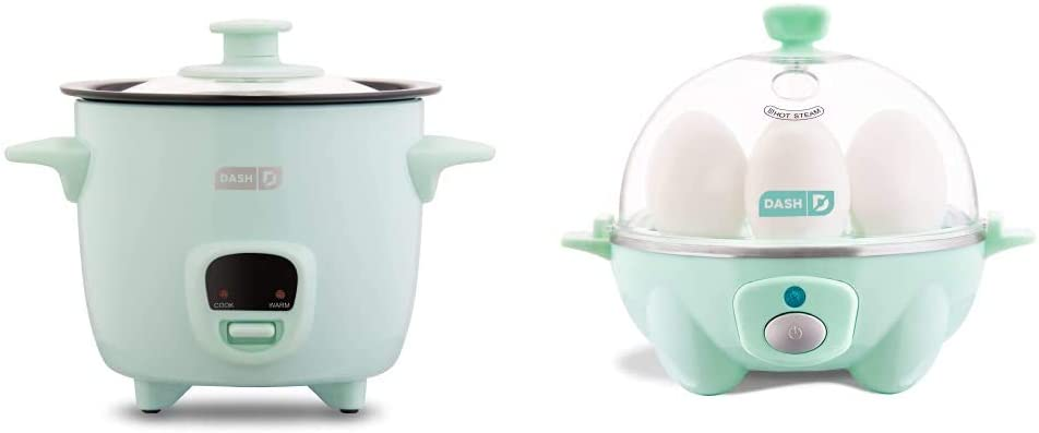 Dash DRCM200GBAQ04 Mini Rice SEAL limited product Cooker Steamer Rapid Egg Co Aqua At the price