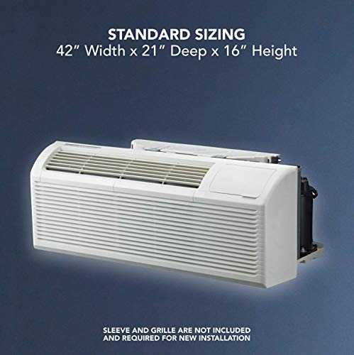 COOPER AND HUNTER 9,000 BTU PTAC Packaged Terminal Air Conditioner With Heat Pump PTHP Unit Heating And Cooling With Electric Cord